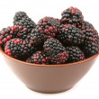 Ripe blackberry in a plate — Stock Photo