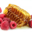 Royalty-Free Stock Photo: Raspberries and honeycomb