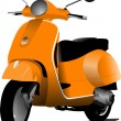 Stock Vector: Orange city scooter. Vector illustration