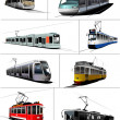 Stockvector : City transport. Tram. Vector illustration