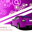 Purple business background with luxury car image. Vector illustr — Stock Vector #5422910