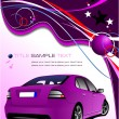 Purple business background with car image. Vector illustration — Stock Vector #5422950