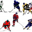 Ice hockey players. Colored Vector illustration for designers - 