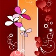 Valentine`s day background with hearts images. Vector illustrati — Imagen vectorial