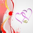 Cover for Valentine`s Day with hearts image. Vector — Image vectorielle