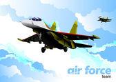 Air force team. Vector illustration — Stock Vector