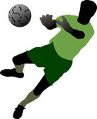 Soccer players. Vector illustration — Stock Vector