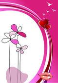 Valentine`s day background — Stock Vector