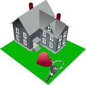 Valentine`s day or wedding gift. Vector illustration — ストックベクタ