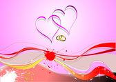 Kryt pro den svatého Valentýna s obrázkem srdce. Vektor — Stock vektor