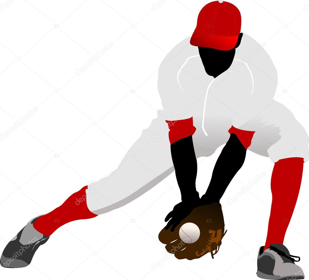 Baseball player. Vector illustration — Stock Vector #5422739