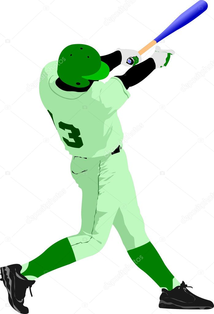 Baseball player. Vector illustration — Stock Vector #5422741