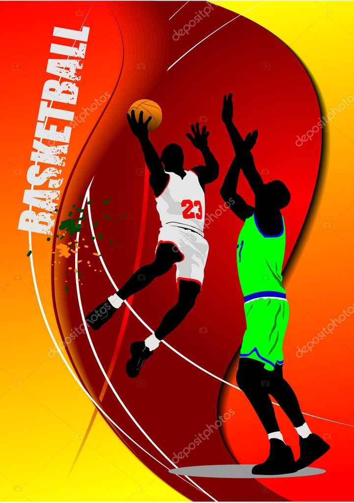 Basketball poster. Vector illustration — Stock Vector #5422748