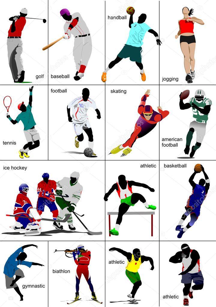 виды спорта на немецком много