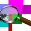 Magnifying glass icon. Transparent  inside. Eps 10 vector - Stock Photo