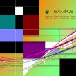 Colored geometric abstract background. Eps10 vector illustration — Stock Photo