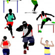 Set of some kinds of athletics. Vector illustration — Stock Photo
