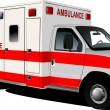 Modern ambulance van over white. Colored vector illustration — Stock Photo #5746783