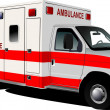 Royalty-Free Stock Photo: Modern ambulance van over white. Colored vector illustration