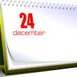 Vector illustration of desk calendar. 24 december. Christmas. — 图库照片