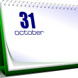 Vector illustration of desk calendar. 31 october. Halloween — Stock Photo