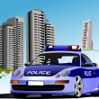Stock Photo: Dormitory and police. Vector illustration