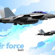 Air force team. Vector illustration — ストック写真