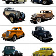 Eight  rarity cars — Stok fotoğraf