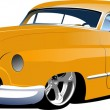Fifty years old yellow sedan. Vector illustration — Stock Photo #5747006