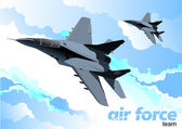 Air force team. Vector illustration — Stock Photo