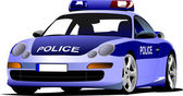 Police car. Municipal transport. Colored vector illustration. — Stock Photo