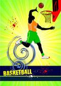 Basketbal poster. vectorillustratie — Stockfoto