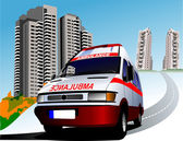 Dormitory and umbulance. Vector illustration — Stock Photo
