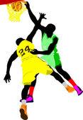 Jugadores de baloncesto. ilustración vectorial — Foto de Stock
