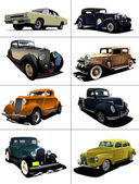 Eight rarity cars — Stock Photo