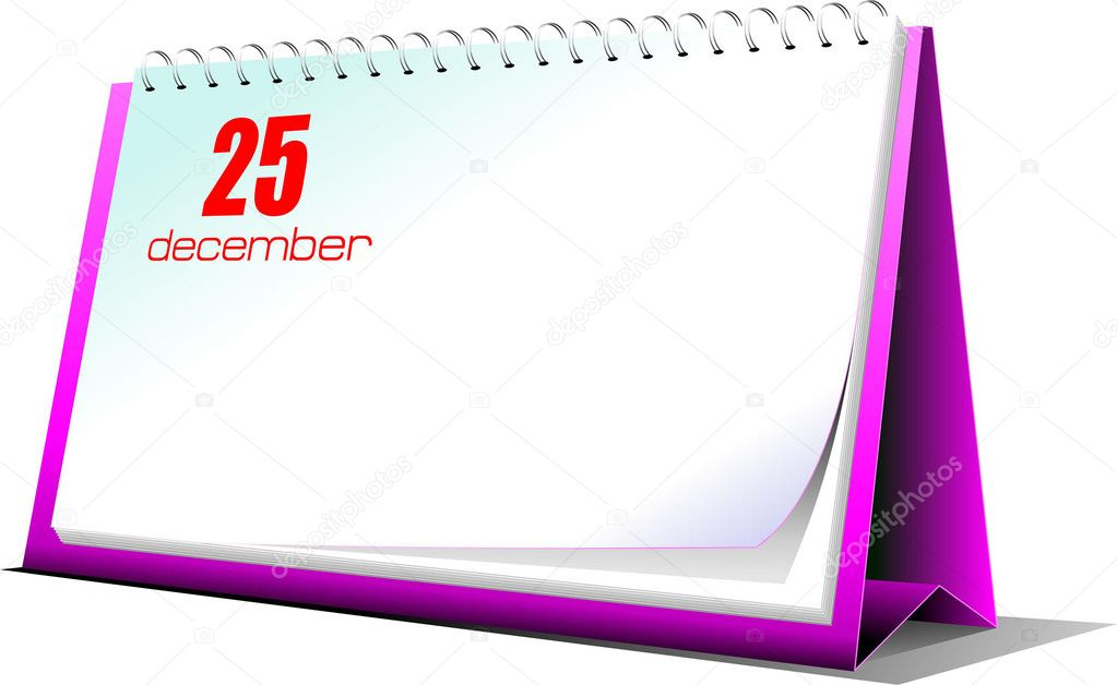 Vector illustration of desk calendar. 25 december. Christmas — Stock Photo #5746943