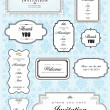 Big set of elements for wedding design. Vector illustration - Lizenzfreies Foto
