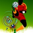 Poster Soccer football player. Colored Vector illustration for d — Stock Photo