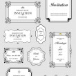 Set of ornate vector frames and ornaments with sample text. Perf — 图库照片