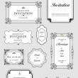 Royalty-Free Stock Photo: Set of ornate vector frames and ornaments with sample text. Perf