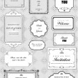 Set of ornate vector frames and ornaments with sample text — 图库照片