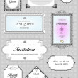 Set of ornate vector frames and ornaments with sample text. Perf - Stock Photo