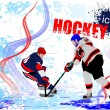 Постер, плакат: Ice hockey players