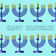 Hanukkah Symbols. Vector colored illustration - Stock Photo