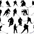 Ice hockey players. Colored Vector illustration for designers - Stock Photo
