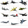 Combat aircraft. Team. Colored vector illustration for designers — Stock Photo