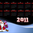 2011 calendar vector illustration — Stock Photo