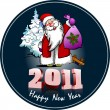 Greeting card for Christmas and happy New Year — Stok fotoğraf