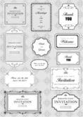 Conjunto de quadros de vetor ornamentado e ornamentos com texto de exemplo — Fotografia Stock
