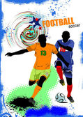 Soccer player. Colored Vector illustration for designers — Stock Photo